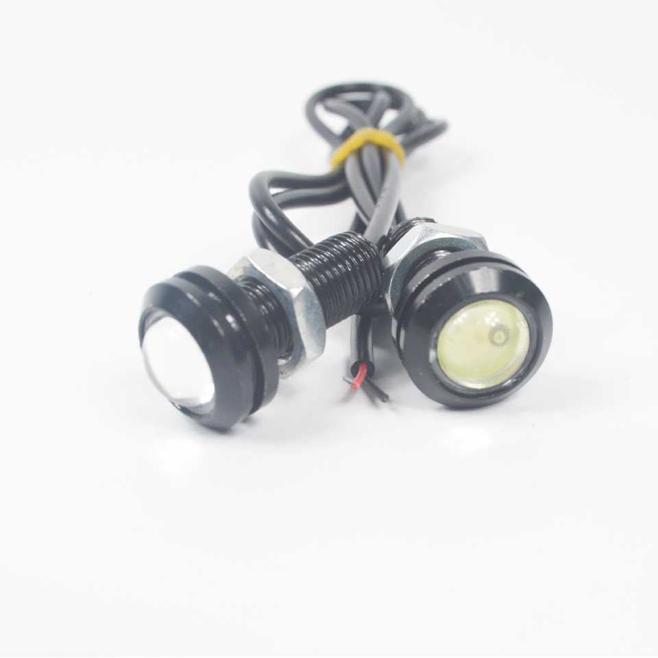 2PCS DC12V 9W LED 18mm Eagle Eye Light Car Fog DRL Daytime Running Reverse Backup Parking