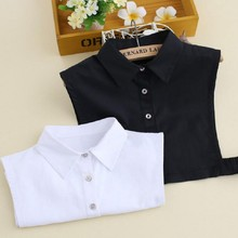adult shirt collars all match black white cotton blending fake collar unisex