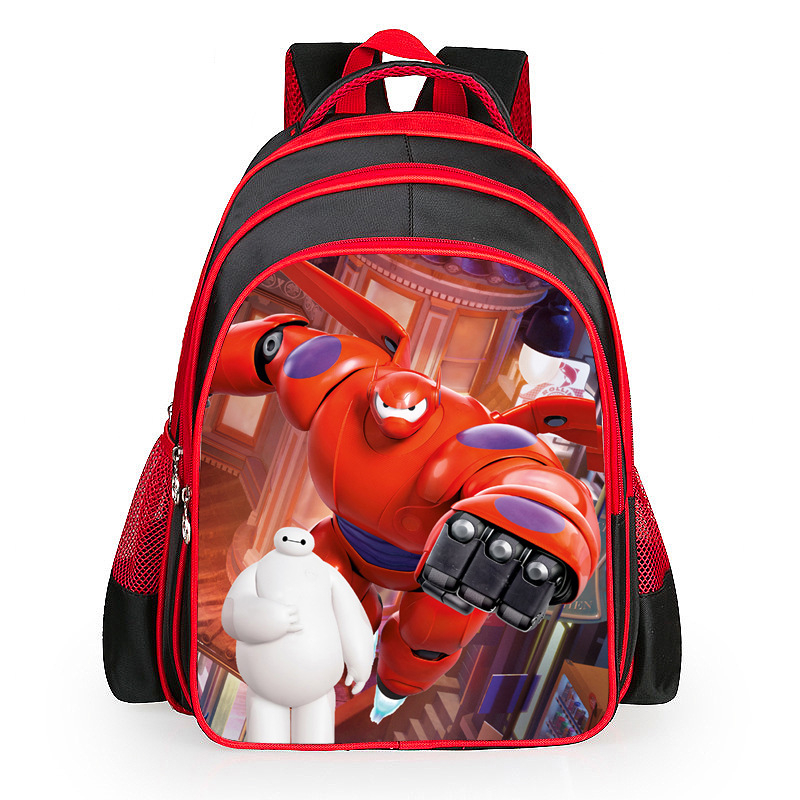 Hot Sales Child gift Children Cartoon School Bags Big Hero 6 Baymax Cheap School Bags For Boys Children's Book bag 3 6 grade cute baymax cartoon primary student bag children school bags backpack for girls boys kids bookbags child book bags