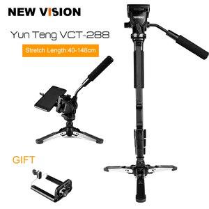 """Image 1 - Yunteng VCT 288カメラ一脚+流体なべ+一脚ホルダー用キヤノンニコンとすべてのデジタル一眼で1/4 """"マウント送料無料"""