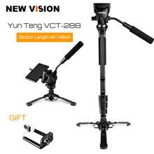 """Yunteng VCT 288 Camera Monopod + Vloeistof Pan Hoofd + Unipod Houder Voor Canon Nikon en alle DSLR met 1/4 """"Mount Gratis Verzending"""