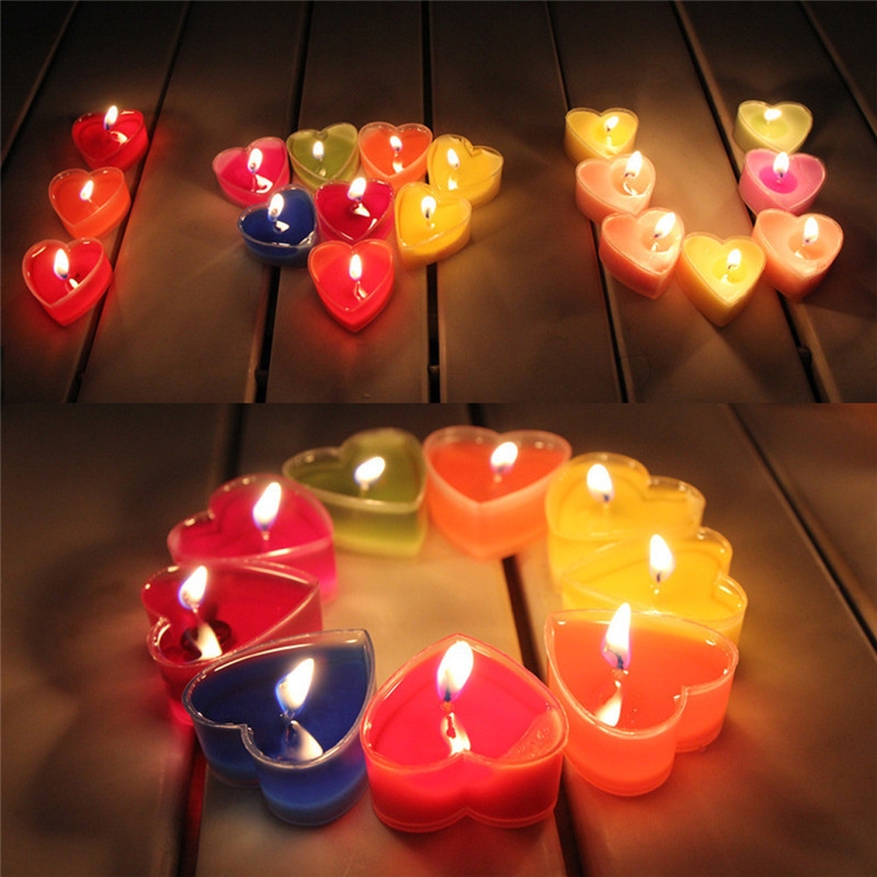 9pcs Set Heart Shaped Candles Scented Candles Wedding