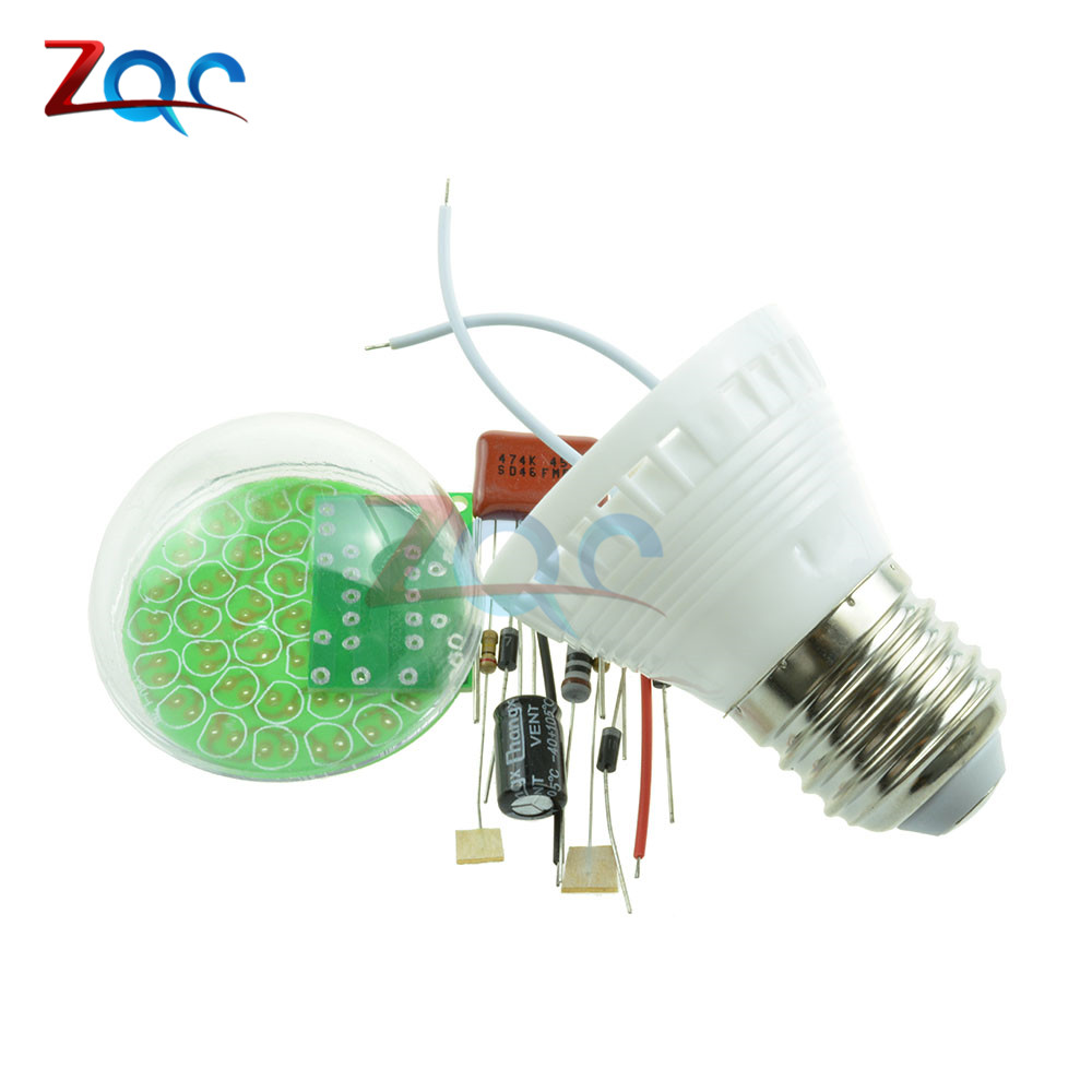 1Set Energy-Saving 38 LEDs Lamps DIY Kits Electronic Suite High Quality 4