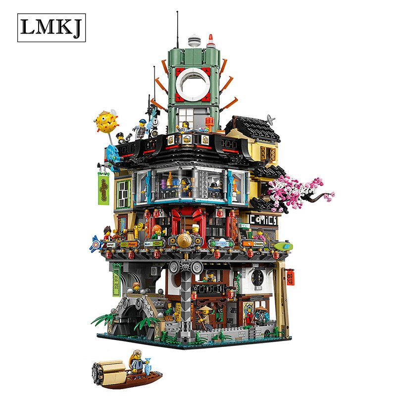 Lepin 4953pcs Ninjago City Masters of Spinjitzu Building Brick Block 06066Toys Compatible with Legoingly 70620 for Children Gift свитер blugirl свитер