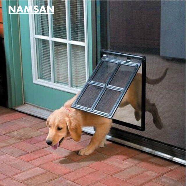 Namsan Magnetic Dog Gate Way Pet Door For Screens Lockable Pet Cat