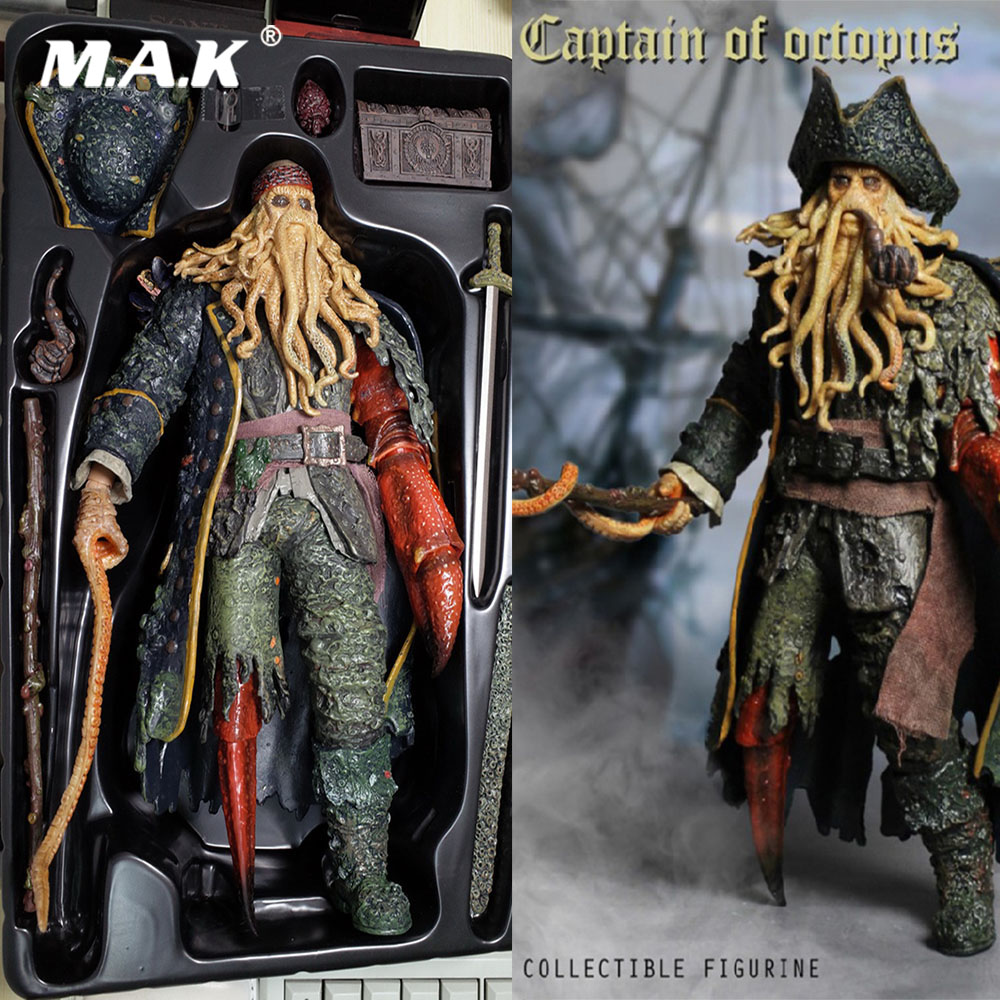 For Collection XD001 1/6 Full Set Pirates of the Caribbean Captain of Octopus Davy Jones Action Figure Model for Holiday Gift cd billie holiday the centennial collection