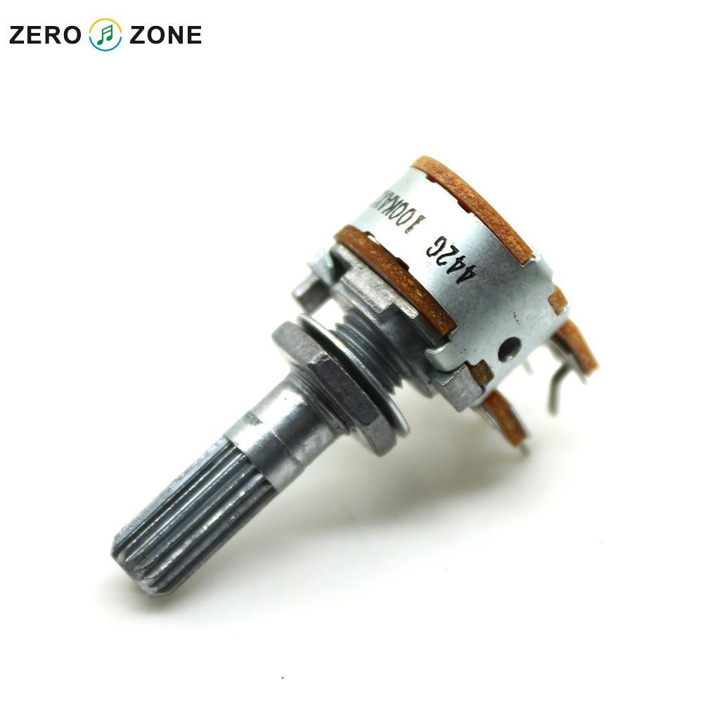 Japanese original ALPS 16 type Dual 100K A type Gear shaft Volume potentiometer