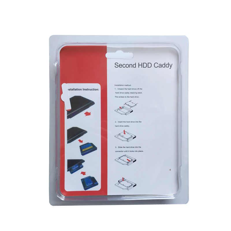 9.5 MILLIMETRI 2nd SATA SSD HDD Hard Drive Tray Caddy Adattatore per Dell Inspiron 15 5567 7537 17 5767 (regalo drive Ottico lunetta)