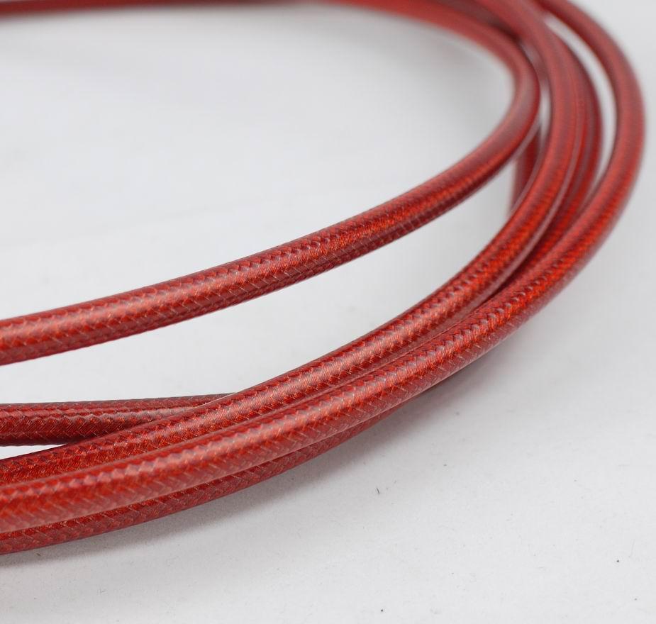 HYDRAULIC DISC BRAKE BRAIDED YARN HOSE RED FOR AVID SRAM 3METER MADE WITH KEVLAR