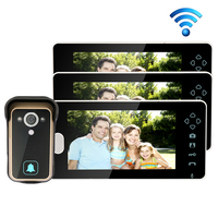 Free Shipping 2 4G Wireless 7 Touch Color TFT LCD Video Door Phone Intercom 1 Waterproof