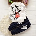 kids boy clothes 3 colors ropa de ninas mickey suits  baby boys girls baby clothes shirt + pants 2 pcs. children clothing