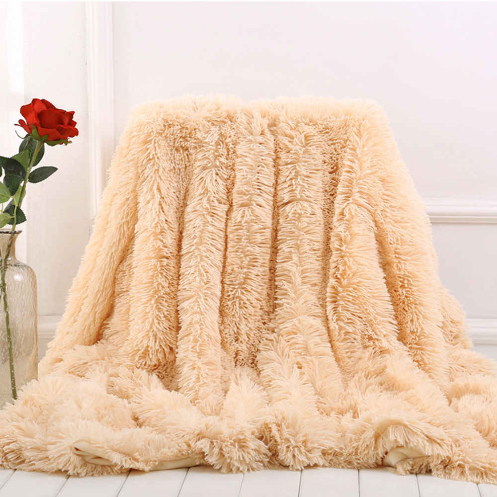 Fuzzy Sofa Replacement Cushions For Wicker Dropwow Soft Fur Throw Blanket On The Couch Long Shaggy Purple Milk Pink