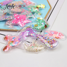 JOJO BOWS 5pcs PVC Sequin Filling Accessories Crown Star Heart Mickey For Garments Sewing Materials DIY Hair Bows Craft Supplies
