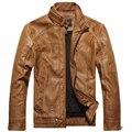 Новая зимняя куртка Мужчины мотоцикл мужские кожаные пальто верхняя одежда мужчины кожаная куртка мужчины куртку и пальто бренд одежды
