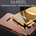Luxury Gold Silver Mirror Aluminum Case for Meizu M3 Note M2 Note M2 mini MX5 Aluminum Frame Acrylic Phone Cases Cover for Meizu