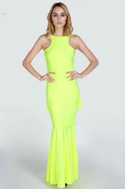 Fluorescent Yellow Dresses