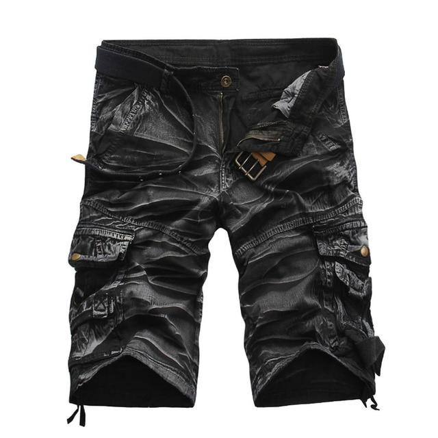 Новый 2017 Мужская Мода Свободные Большой Размер Шорты Бермуды Masculina, мужчины Повседневная Пляж Шорты Военный Камуфляж