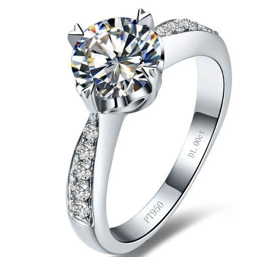 1 ct heart shaped wedding ring for lady solid silver synthetic diamant ring for women BB
