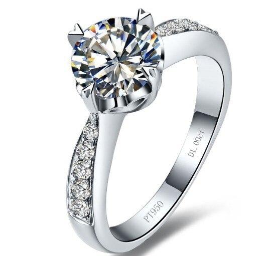 순수 실버 1 ct 하트 모양의 결혼식 925 반지 레이디 솔리드 실버 합성 diamant s925 반지 여성 (bb)-에서약혼 반지부터 쥬얼리 및 액세서리 의  그룹 1