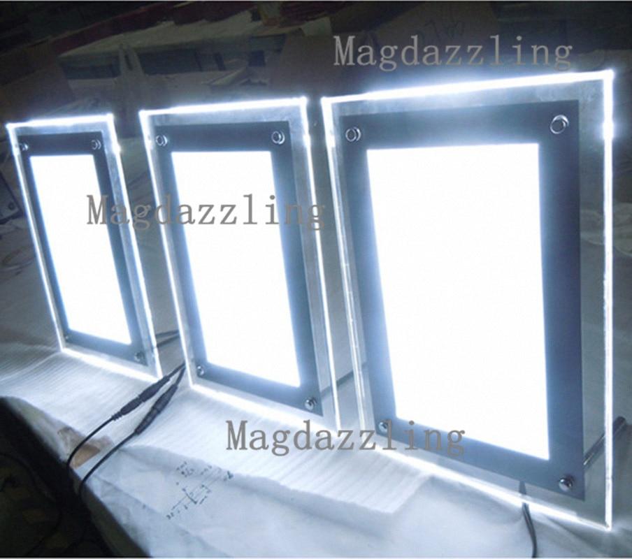 Alto brillo A4 acrílico Marcos LED iluminado Movie poster/acrílico ...