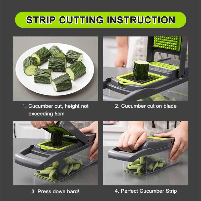Upgrade wielofunkcyjny nóż do warzyw gadżety kuchenne wyciskacz do czosnku ostrze ze stali obierak do ziemniaków marchew tarka akcesoria kuchenne