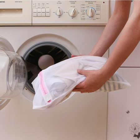 1 pc Máquina de Lavar Roupa Saco de Lavagem Cesto de roupa suja Com Zíper Nylon Ajuda Sutiã Lingerie Malha Wash Net Bolsa