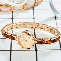 KIMIO Fashion Brand Quartz Watch Ladies Ceramic Bracelet Wristwatch Fashion Rose Gold Dress Watches Girl Female