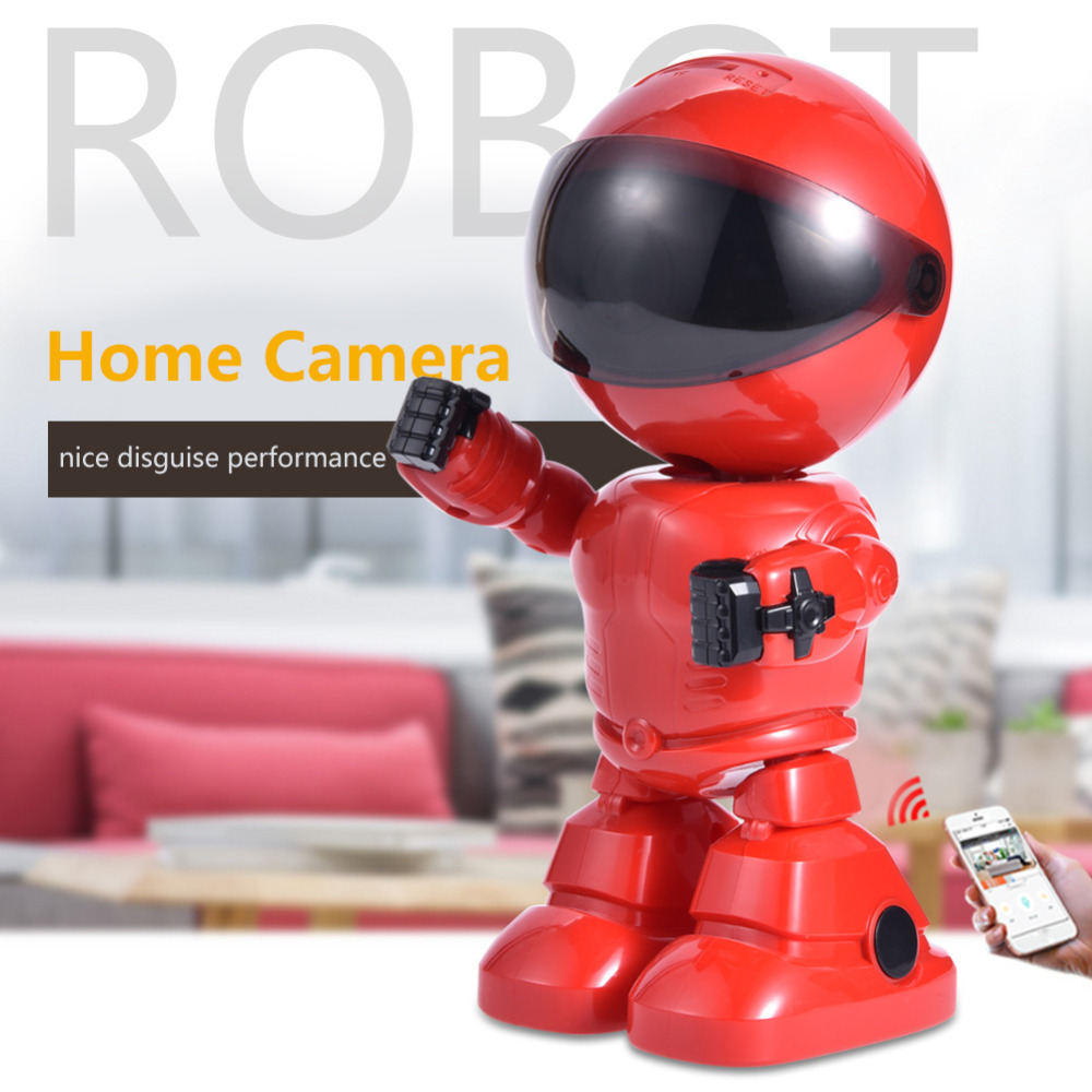 Wifi Robot Camera 960P 1.3MP HD Wireless IP Camera Wi-fi Night Vision Camera IP Network Camera CCTV Support Two-Way Audio robot camera wifi 960p 1 3mp hd wireless ip camera ptz two way audio p2p indoor night vision wi fi network baby monitor security