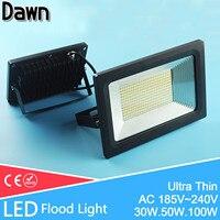 Ultra Thin LED Flood Light Waterproof IP65 Spot Floodlight 50W 30W 20W 10W Landscape LED Outdoor