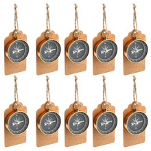 Ourwarm 50pcs Wedding Souvenirs Anniversary Gift Tags Labels with Compass Party Favors Hanging Ornament Supplies