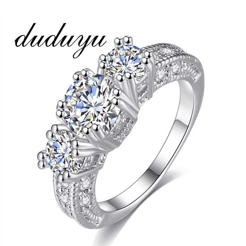 1.75ct AAA Zircon Engagement Rings for Women 4 Colors Wedding Rings Female Anel Austrian Crystals Jewelry Top Quality