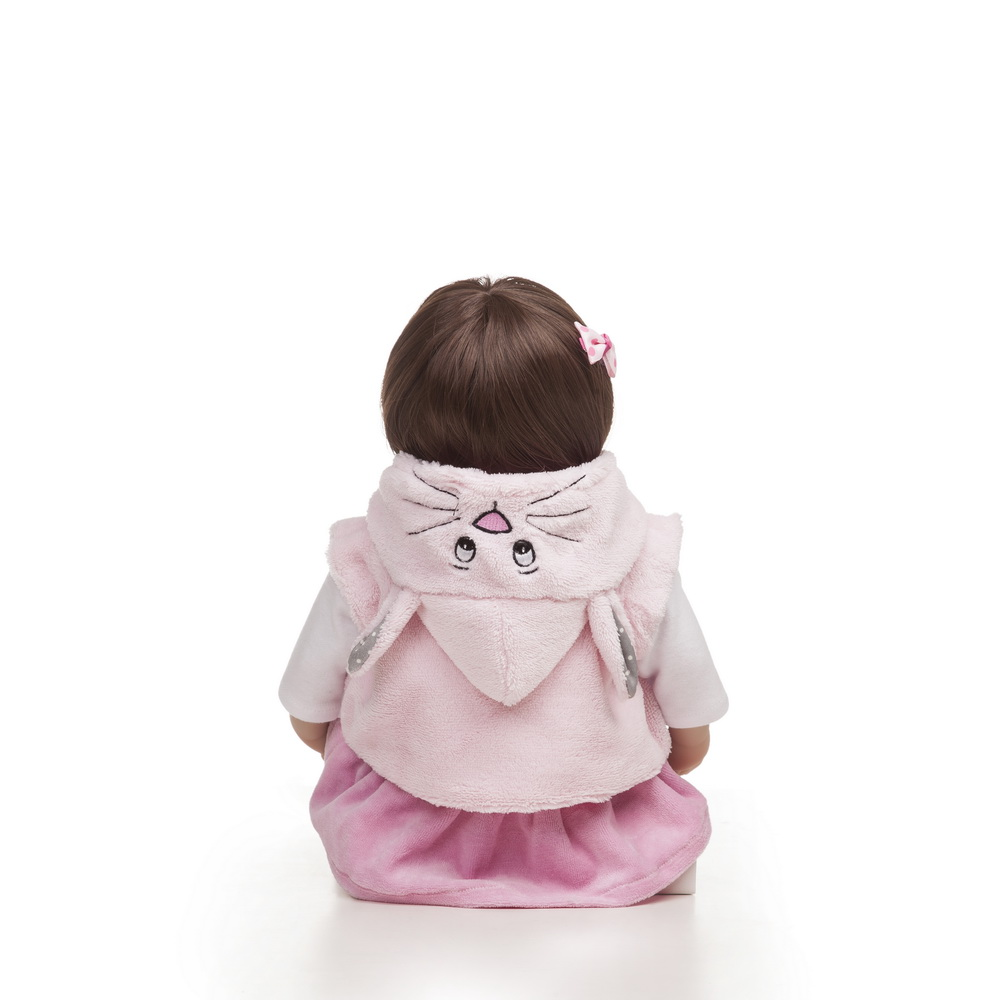 18 quot 48CM Bebe Soft Body Silicone Reborn Adorable Baby Doll Toy For Girls Newborn Girl Babies Dolls Kids Gift menina surprice in Dolls from Toys amp Hobbies