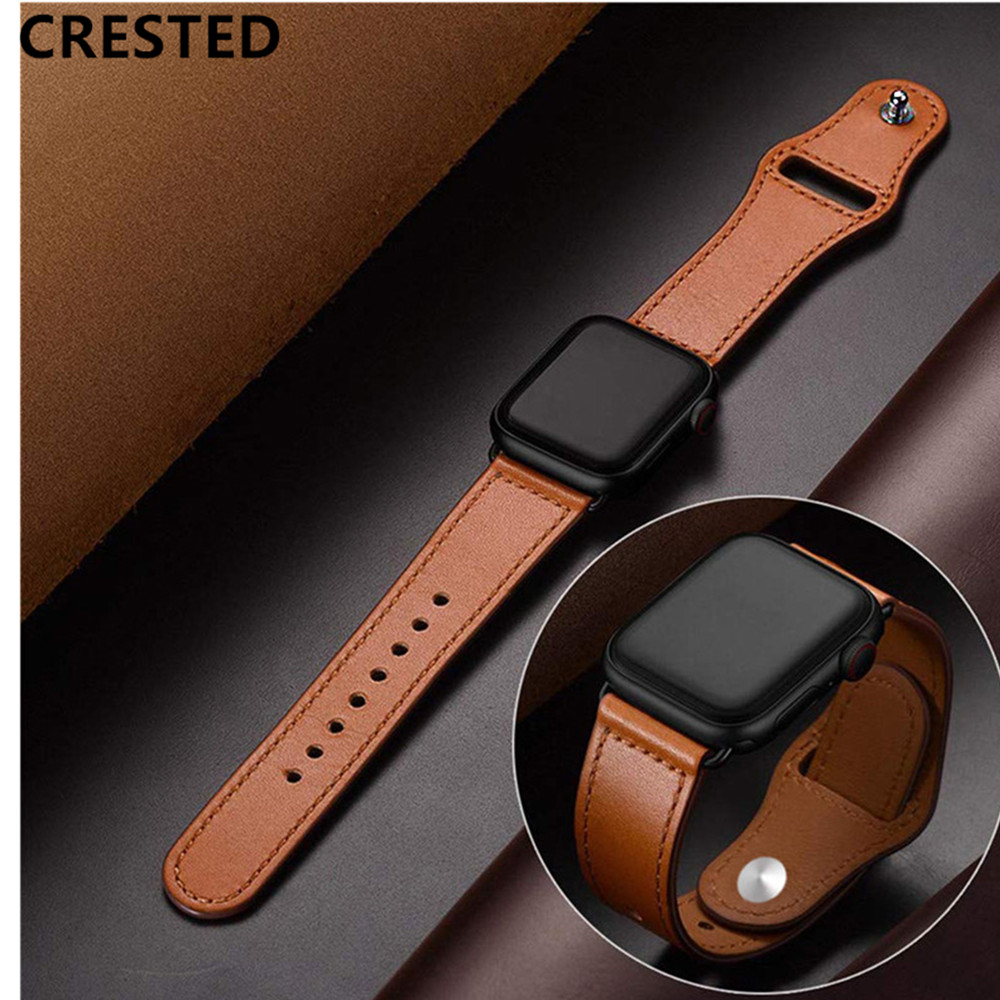 Leather For apple watch band strap apple watch 4 3 Accessories 42mm/38mm correa iwatch band 44mm/40mm pulseira braceletLeather For apple watch band strap apple watch 4 3 Accessories 42mm/38mm correa iwatch band 44mm/40mm pulseira bracelet