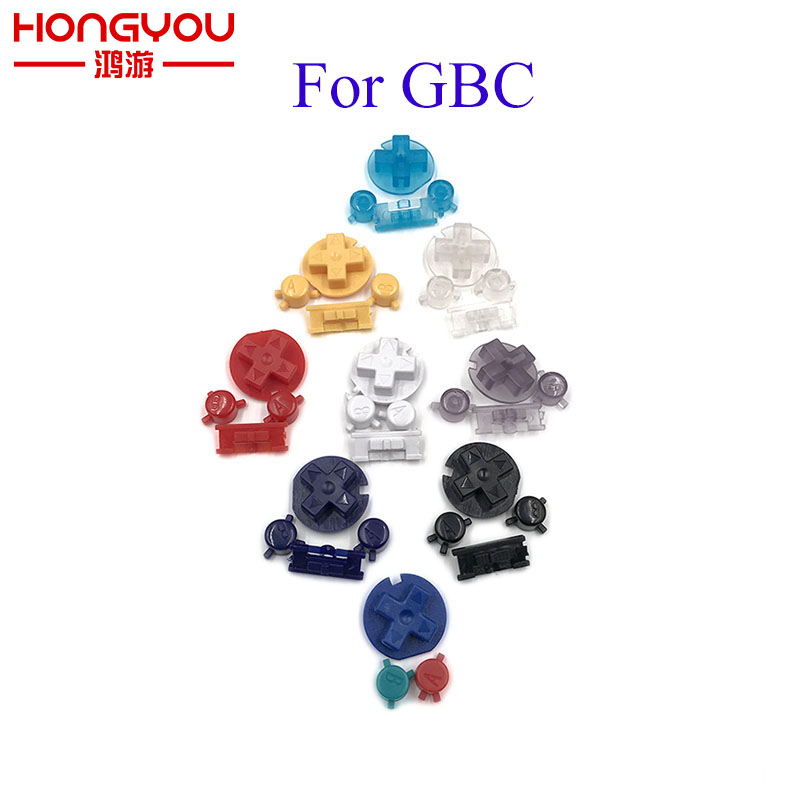 100Sets Power Keypads ON OFF button for Gameboy Color GBC colorful D pads A B button(China)