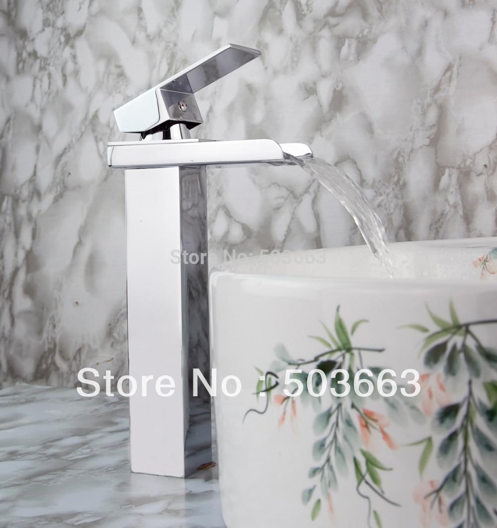 ᗖWholesale New Bathroom Basin Sink Waterfall Faucet Mixer Tap ...