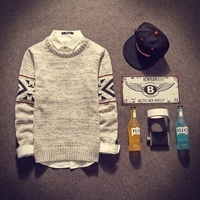 Japan Style Casual Pullovers Men Vintage Colorful Dot Knitwear Mens Simple Plus Size O Neck Winter