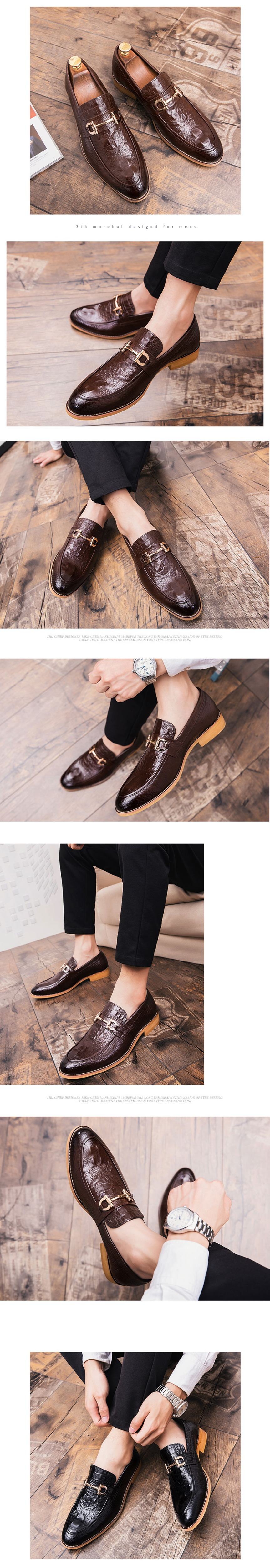 Details about  /British Mens Real Leather Shoes Business Loafers Slip on Pointy Toe Wedding New