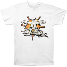 ef2d9520a2379 Aerosmith Graffiti T-shirt X-Large White Rockabilia T Shirts Men Short  Sleeve