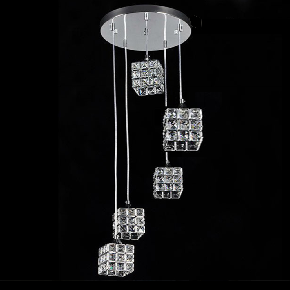Crystal Ceiling pendant lamp G9 modern minimalist living room dining room hotel lighting foyer light segmented dimming FRHC/71 a1 master bedroom living room lamp crystal pendant lights dining room lamp european style dual use fashion pendant lamps