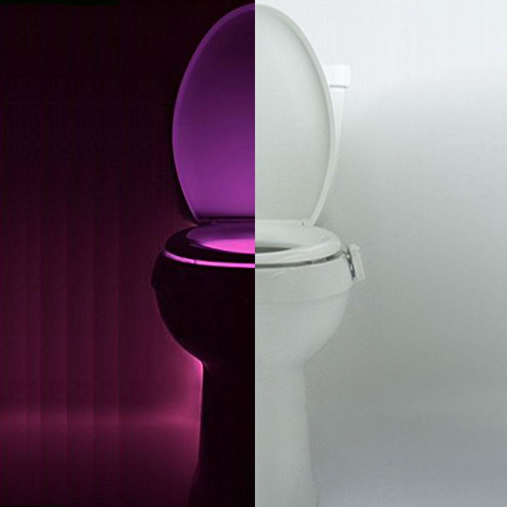 Motion Sensor Toilet Bowl Light Colorful Home Toilet