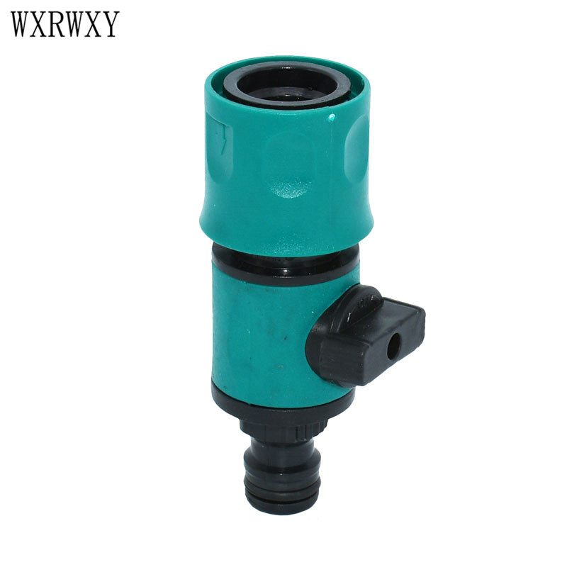 Wxrwxy Waterpistool Fitting Wasstraat Slang Tap Irrigatie Klep Snelkoppeling Water Valve Kranen Tuinslang Tap Adapter 6 Stks