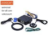 10 шт./лот двигатель автомобиля тревоги кнопка запуска RFID замок зажигания Стартер замками Start Stop иммобилайзер системы