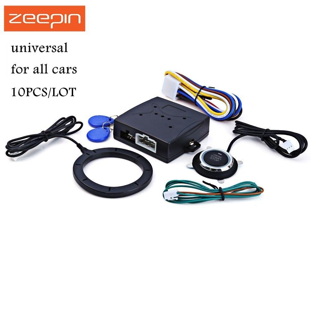 10 pcs/Lot alarme de voiture moteur bouton de démarrage par bouton RFID serrure allumage démarreur sans clé entrée démarrage arrêt immobilisateur système antivol