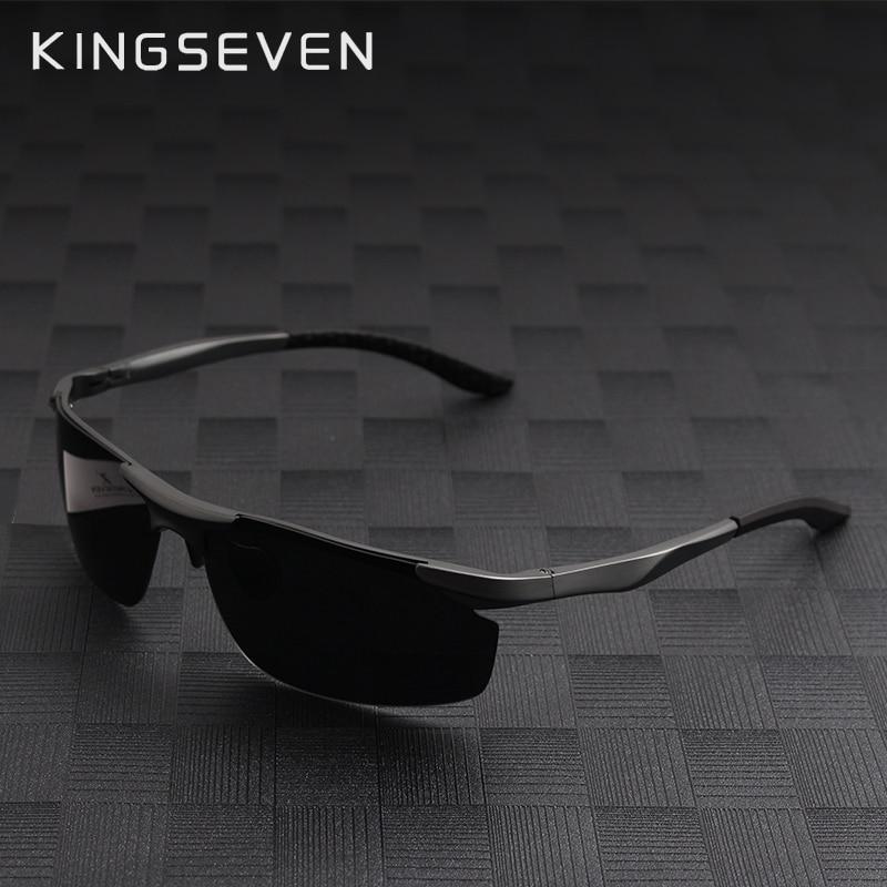 750ec2a421b59 Kingseven Moda Polarized Óculos homem mulheres Marca Designer Óculos de Sol  Dos Homens Originais Polaroid Oculos Gafas De Sol óculos De Sol Do Vintage