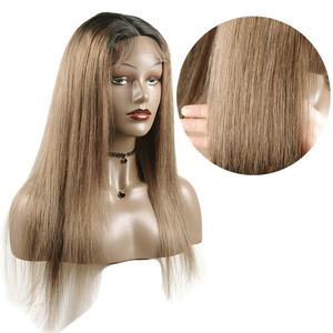 Image 4 - Long Brazilian Straight Ombre Lace Closure Human Hair Wigs 180 Density 1B Lime Green Wigs For Black Women 4X4 Lace Wigs Non remy