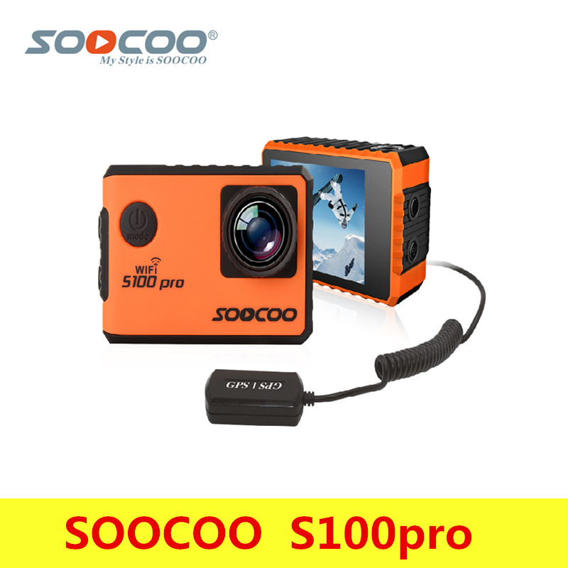 Original SOOCOO S100pro Wifi 4K Action Camera 30m Waterproof Voice Control 2.0'' Touch Screen Sport Camera With Gyro And Remote soocoo s100 pro 4k wifi action video camera 2 0 touch screen voice control remote gyro waterproof 30m 1080p full hd sport dv
