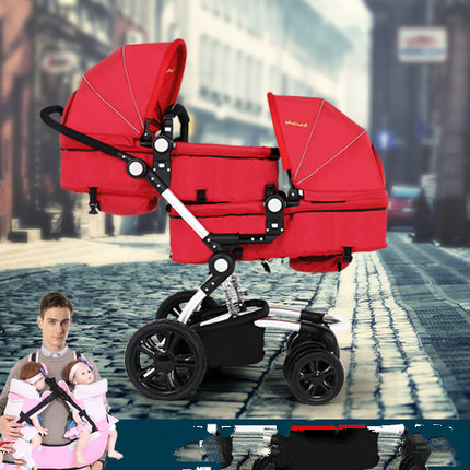 12 gift  The twins high landscape The stroller Can sit can lie before and after the double fold