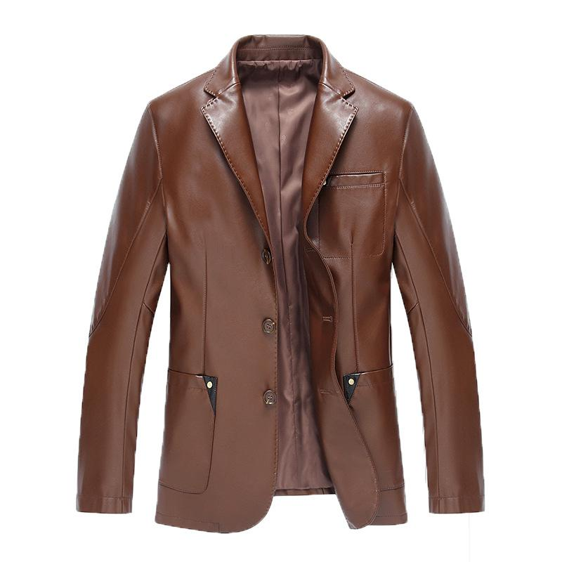 The New Spring 2017 Men Sheep Leather Jacket Good Quality, Short Men Leather Suit Men Fall Fur Coat