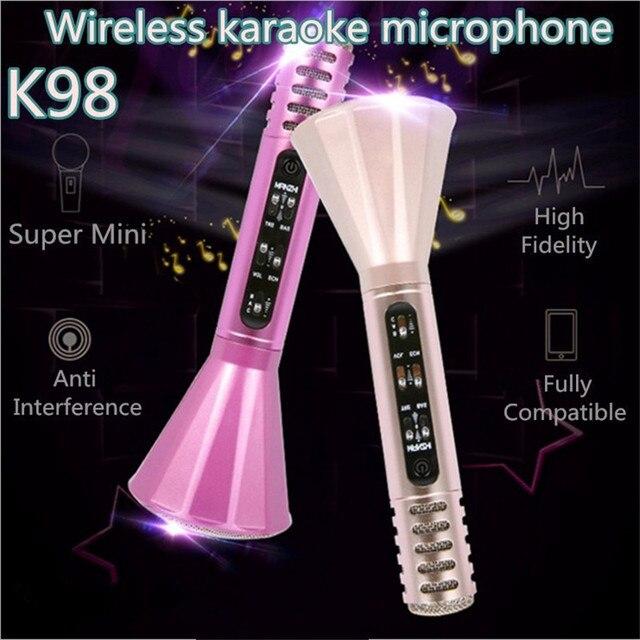 НОВЫЕ K98 Беспроводные Bluetooth-микрофон, Динамик KaraoK Записал Песню Пение Игрока Микрофон Караоке Мобильный КТВ Лучше, Чем K068