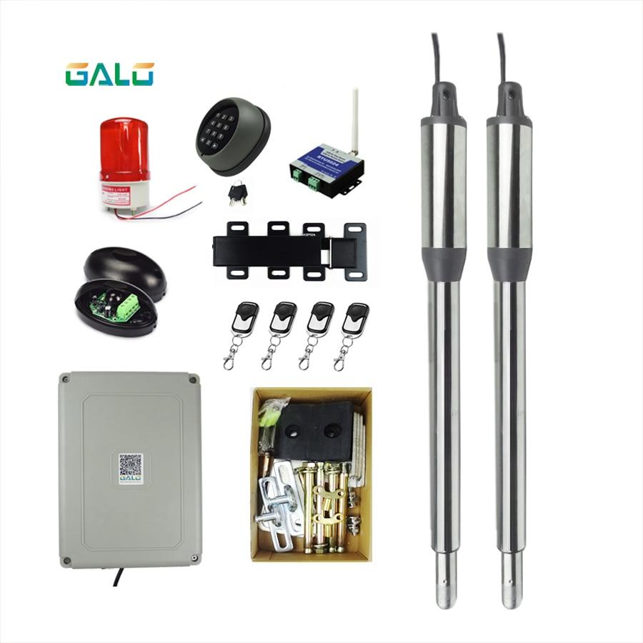 Elektrische Linear Antrieb Motor Motor System Automatische Schaukel Tor Opener + 4 fernbedienung AC 110 V/220 V 300kgs